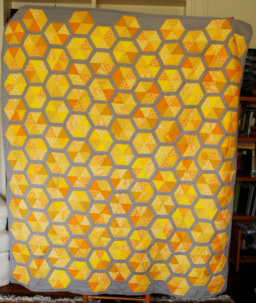 Honeycomb Quilt by Pieced Together Quilts