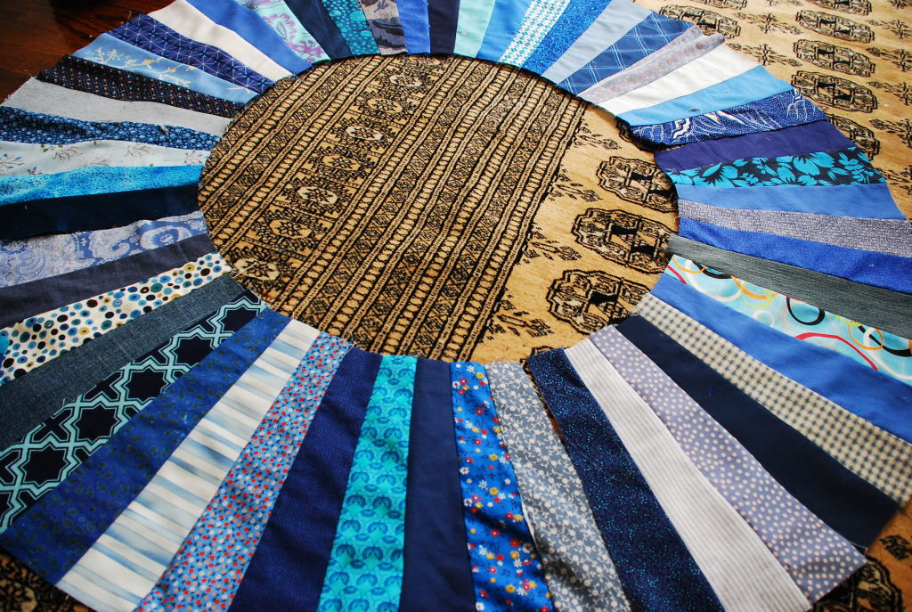 Blue Color Wheel Quilt by Pieced Together Quilts