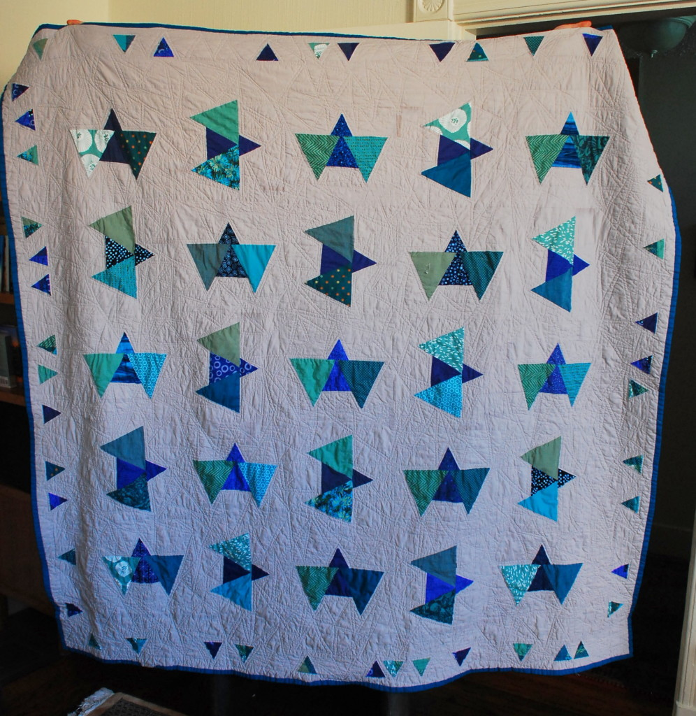 Modern Triangle Quilt from Pieced Together Quilts