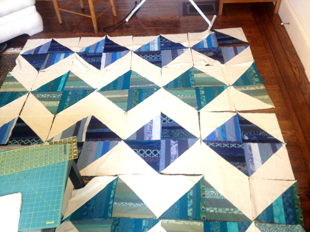 Diamond Quilt by Pieced Together Quilts