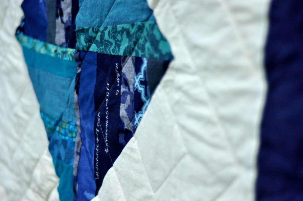 Blue and Green Diamonds by Pieced Together Quilts