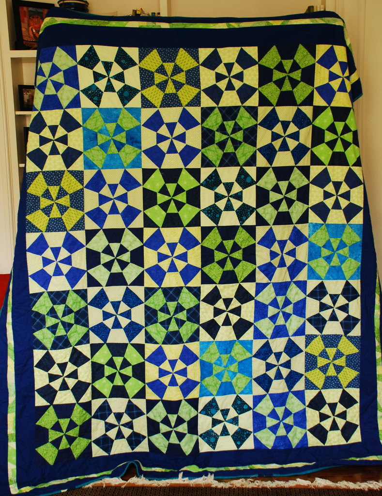 MollyKaleidoscope Quilt by Pieced Together Quilts