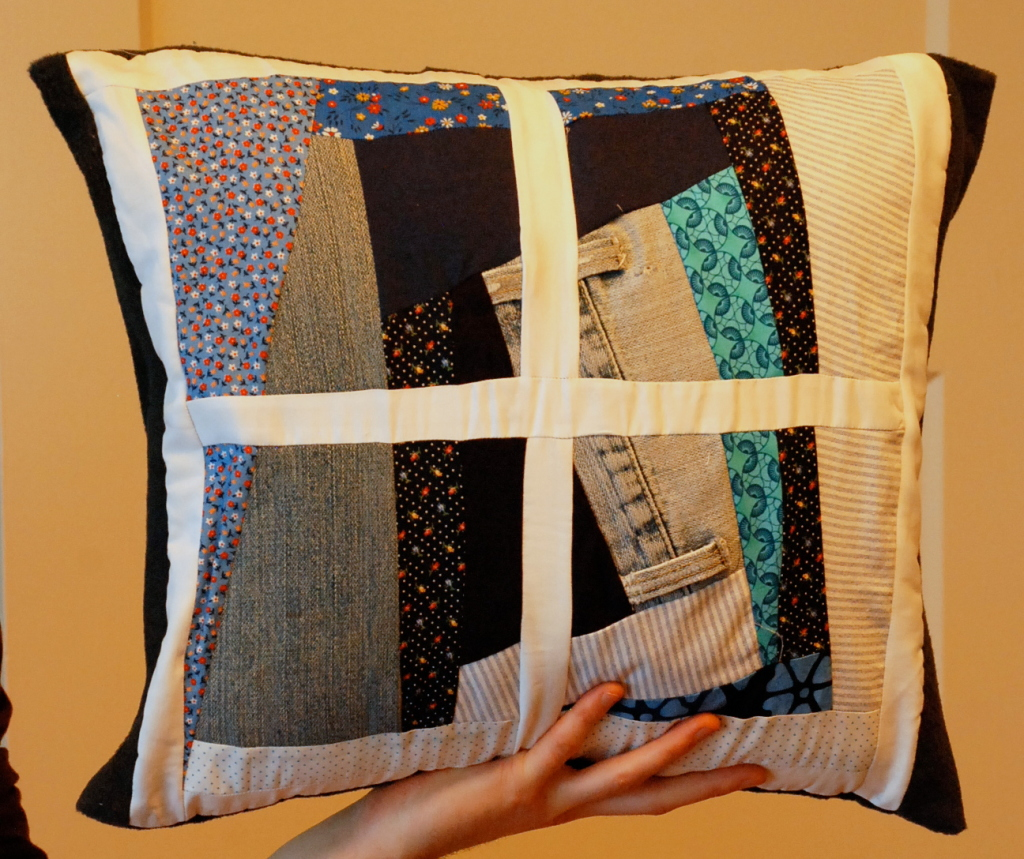 Scrappy Pillow by Pieced Together Quilts