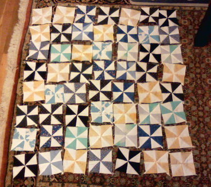 Pinwheel in Progress by Pieced Together