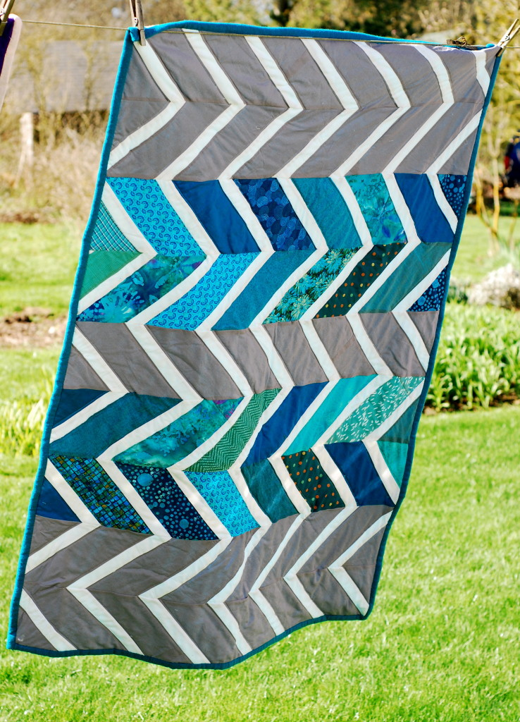 Baby Zag Quilt by PiecedTogether Quilts