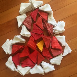 Red Pinwheel Quilt by PiecedTogether Quilts
