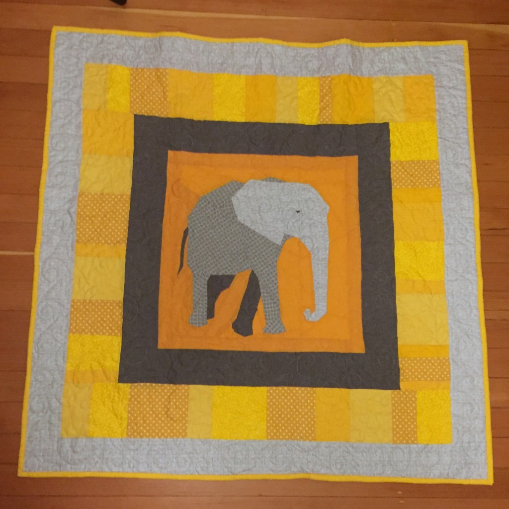 Elephant Quilt - Pieced Together Quilts