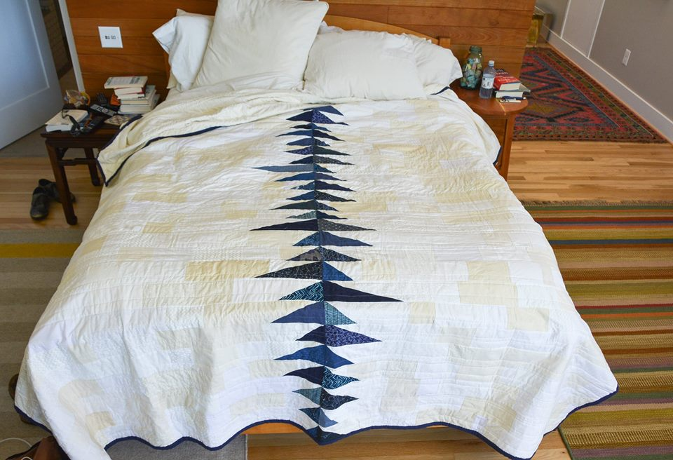 Asymmetrical Symmetry Modern Quilt by PiecedTogether Quilts