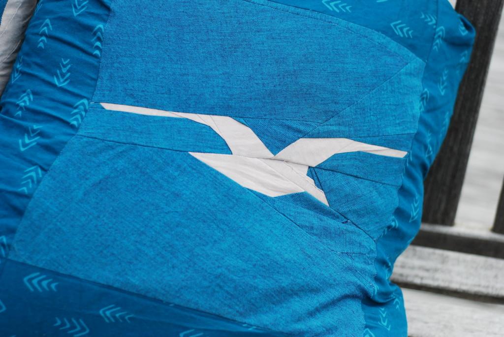 Beach Bird Pillows by PiecedTogether Quilts